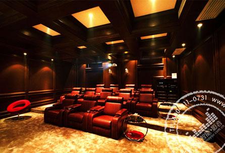 【别墅】长沙北山庄园私人影院装修设计案例