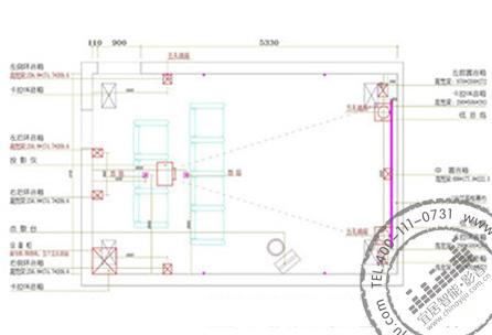 家庭影院装修设计平面布置图