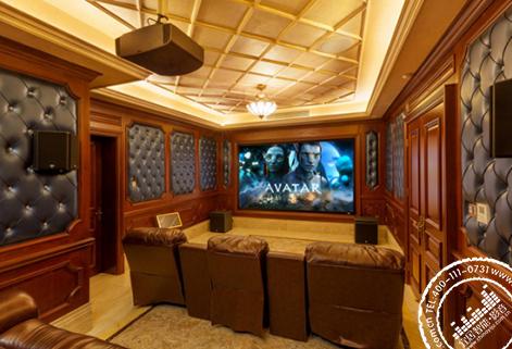 【绿城·青竹湖】别墅家庭影音室装修设计方案
